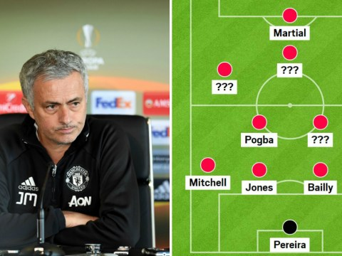 How Manchester United could line up against Crystal Palace as Jose Mourinho fields SIX youth players
