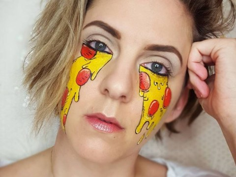 The best way to cover up your undereye circles? Pizza concealer