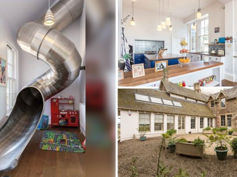You can buy a house where you use a slide to get downstairs