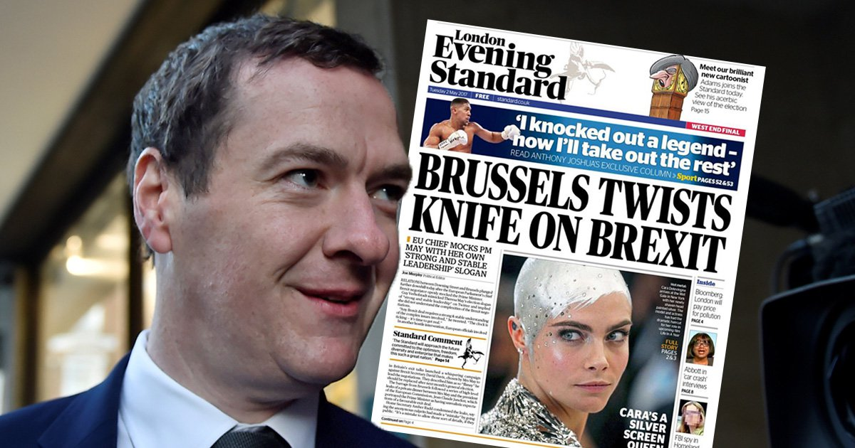 George Osborne's first Evening Standard takes swipe at Theresa May