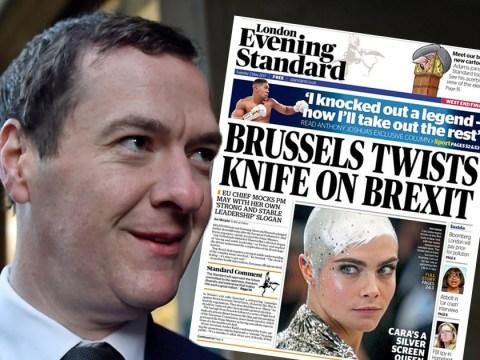 George Osborne's first Evening Standard takes swipe at Theresa May