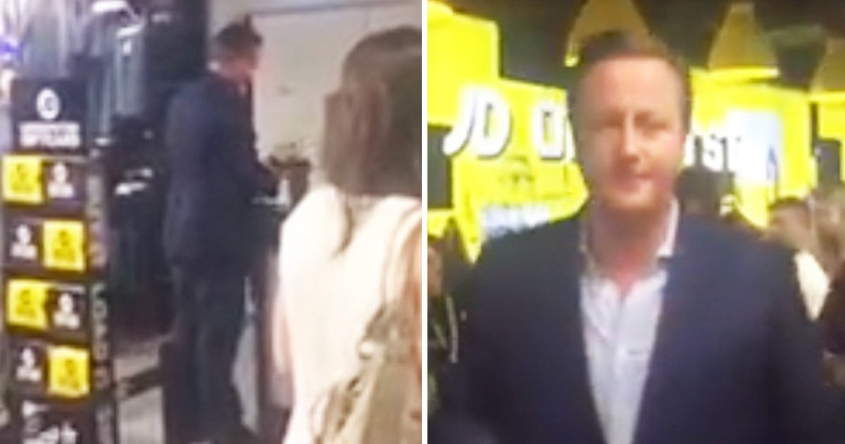 David Cameron spotted buying budget pack of socks in JD Sports