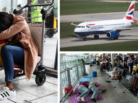 Passengers describe BA travel chaos as some bed down on yoga mats