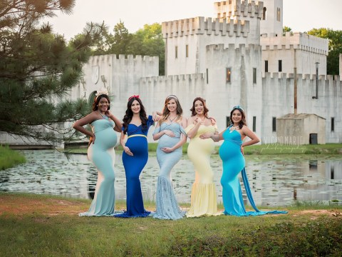 This Disney princess maternity photoshoot is magical