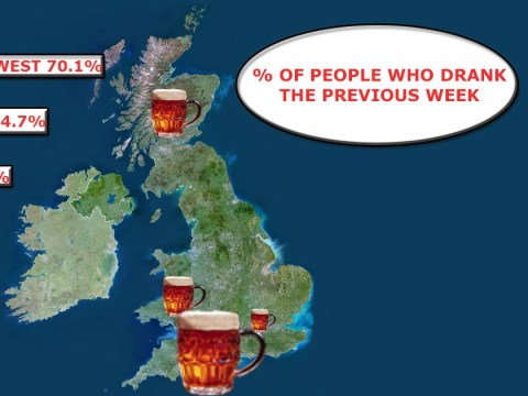 The areas of the UK where people drink the most