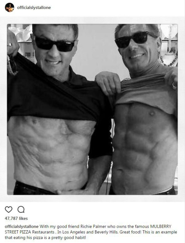 Sylvester Stallone flaunts six pack on Instagram at 70 and