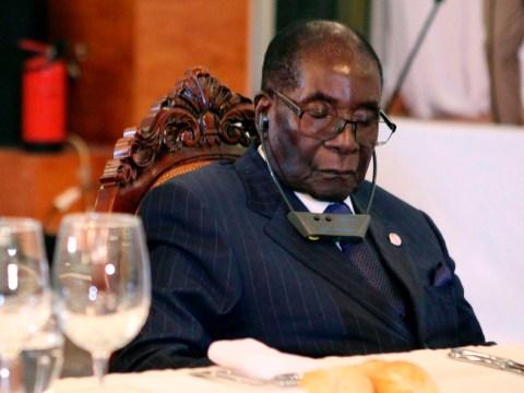 Robert Mugabe isn't sleeping through meetings, he's protecting his eyes