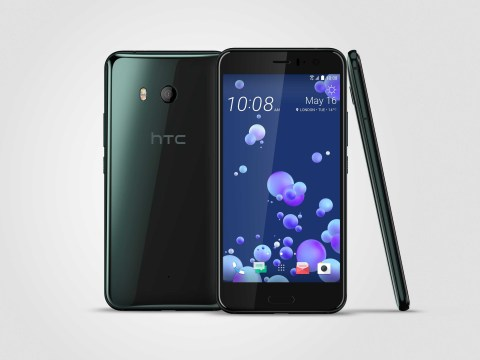 HTC launches new smartphone that takes selfies when it's squeezed