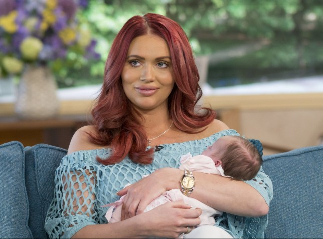 Amy Childs with baby