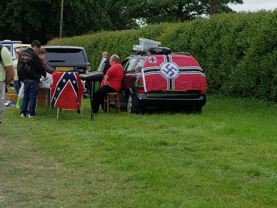 Car boot sale trader displays Nazi flag 'in retaliation for the Manchester bomb'