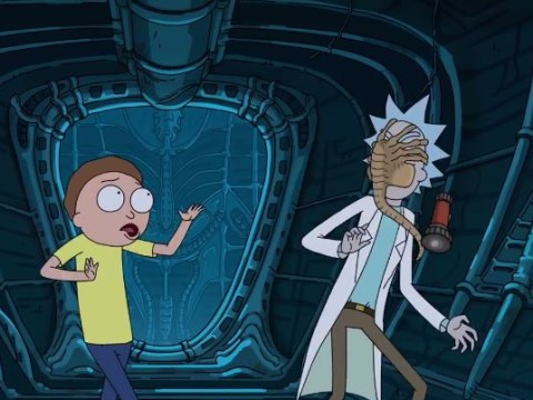 Rick And Morty attacked by the facehuggers in hilarious Alien: Covenant crossover