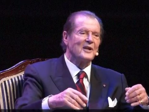 Sir Roger Moore joked about 'freezing cold' James Bond sex scenes in final public appearance