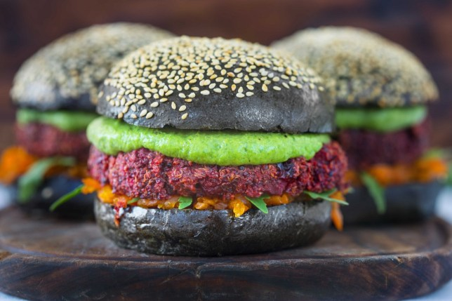roast veggie burger