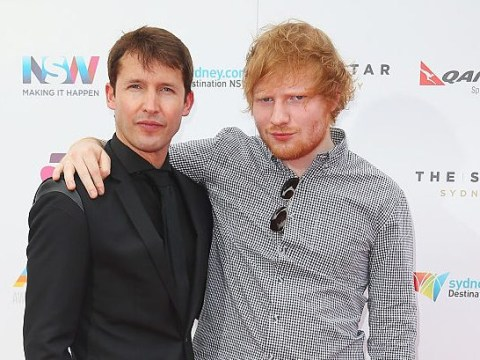 Ed Sheeran announces 'brilliant' support act James Blunt for world tour