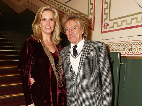 Rod Stewart and Penny Lancaster renew their wedding vows after ten years of marriage