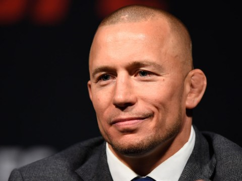 Dana White decided to resurrect Michael Bisping vs Georges St-Pierre during Tyron Woodley's fight