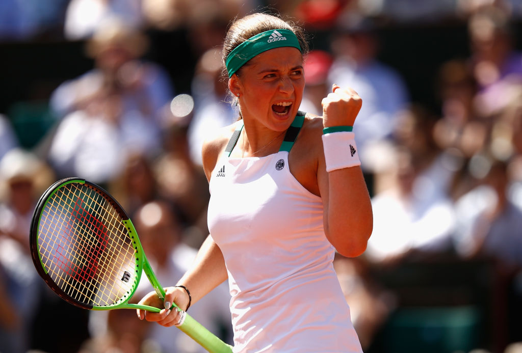 Jelena Ostapenko gifts herself perfect birthday present by beating Timea Bacsinszky to reach first Grand Slam final