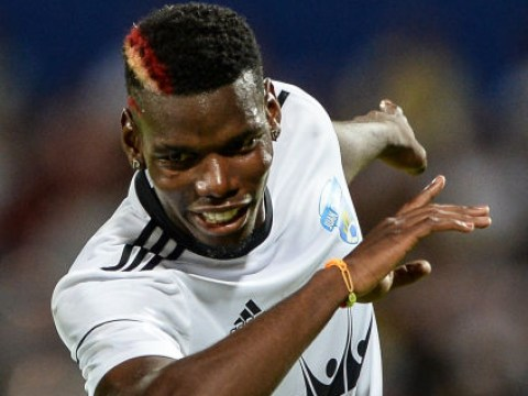Manchester United star Paul Pogba DABS while scoring in charity match in Colombia
