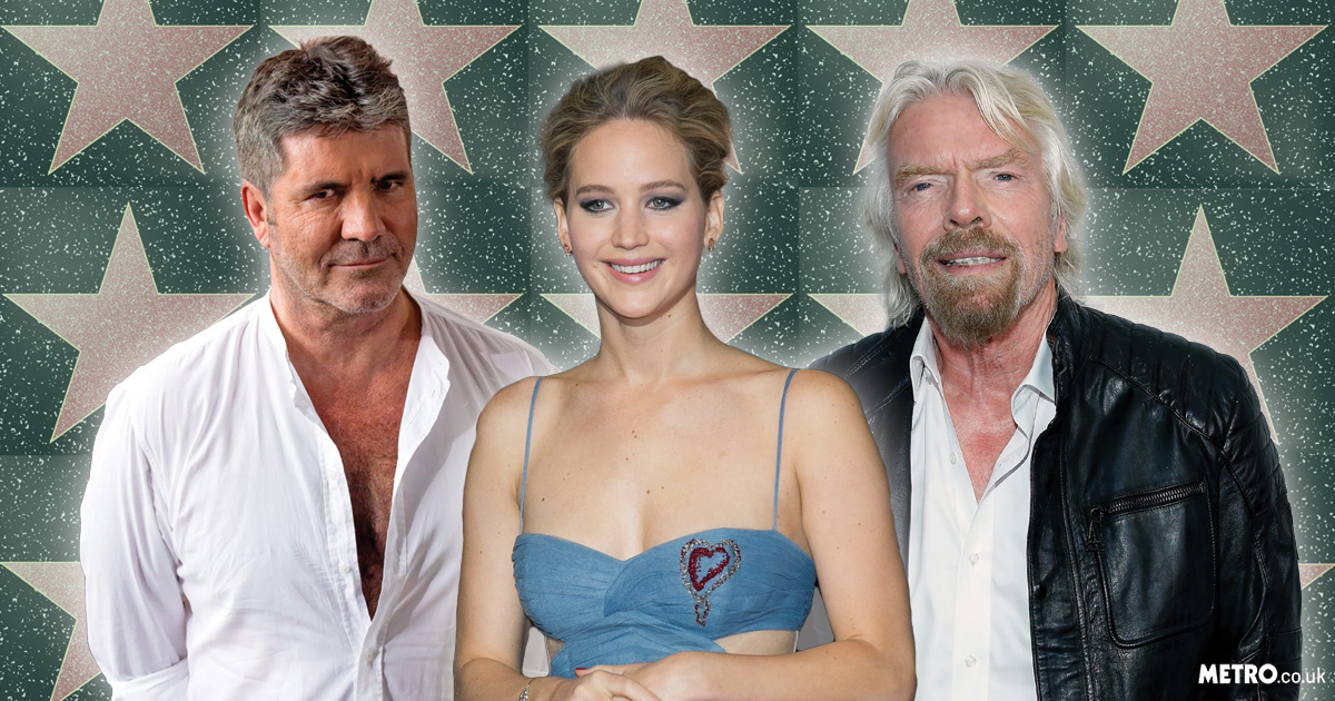 Brits Simon Cowell and Sir Richard Branson join Jennifer Lawrence and Mark Hamill finally getting stars on the Hollywood Walk Of Fame