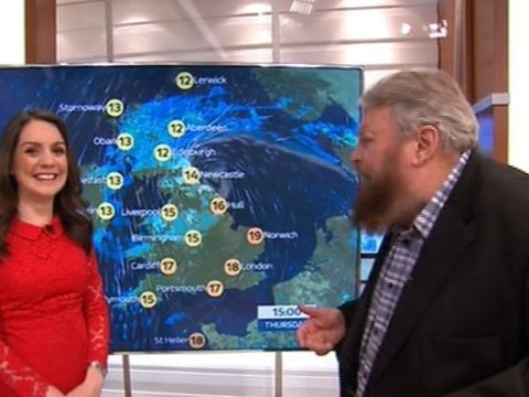 Brian Blessed does the weather on Good Morning Britain and they need to give him a permanent job