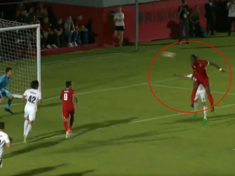 Chelsea legend Didier Drogba shows he's still got it with trademark goal in Phoenix Rising debut