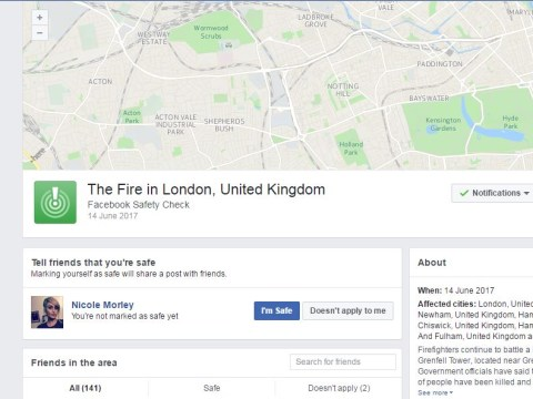 Facebook activate Safety Check as dozens feared dead in Grenfell Tower fire