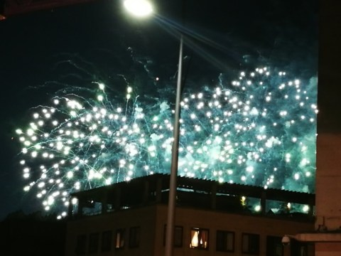 Poorly-timed firework show causes panic in central London