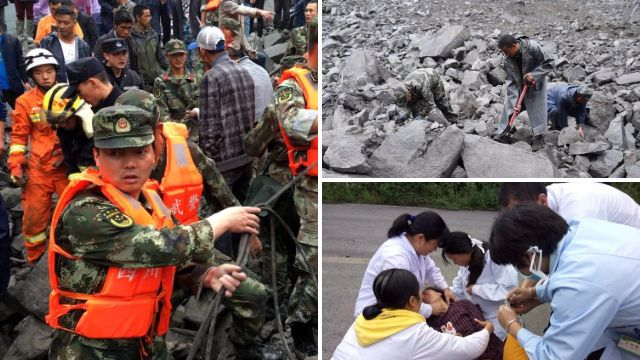 More than 120 people feared dead after landslide hits Chinese village