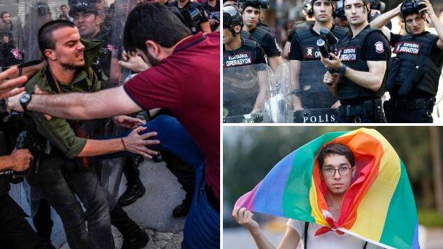 Police 'fire plastic bullets' at LGBT activists who marched despite gay pride ban in Turkey