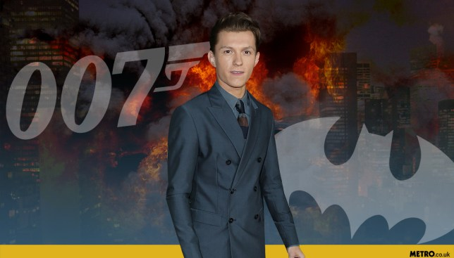 Spider-Man star Tom Holland would like to play Batman or James Bond picture: Getty/REX - Credit: Mylo