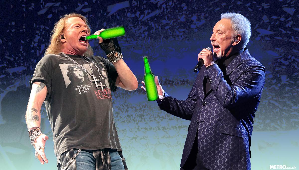 Sir Tom Jones and Guns N' Roses' Axl Rose party until 6am until officials shut it down following noise complaints