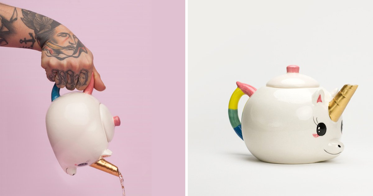 Make your morning brew a little more magical with this unicorn teapot