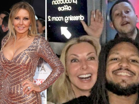 Carol Vorderman becomes unlikely rap groupie after being spotted hanging out with Rum Committee