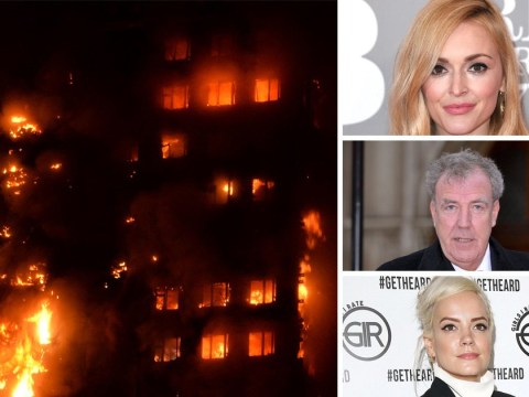 Celebrities urge Londoners to give what they can to Grenfell Tower fire victims