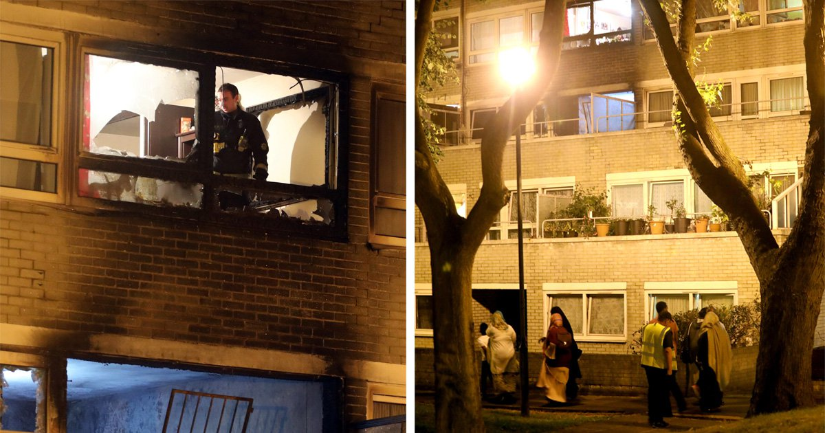 Fire breaks out at tower block that's minutes from evacuated Camden estate