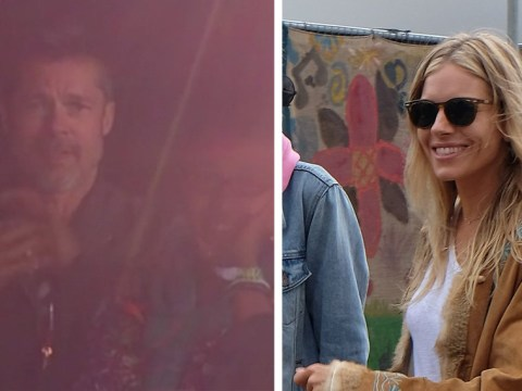Brad Pitt and Sienna Miller 'spotted stroking each other and holding hands at cosy Glastonbury party'
