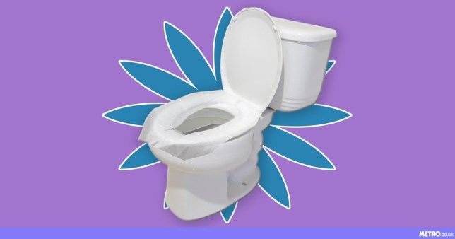 Toilet seat cover as a blotter