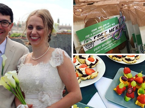 This couple served expired food at their wedding – to help the environment