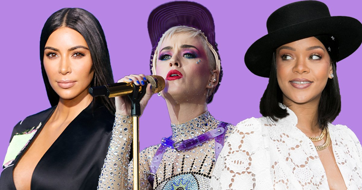 Rihanna, Kim Kardashian and Katy Perry are officially dominating the internet – yes it is actually official