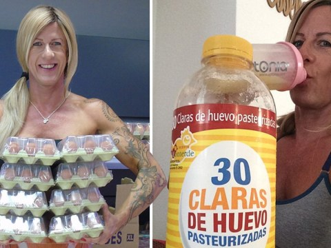 Woman claims to have transformed her body by drinking 30 egg whites a day