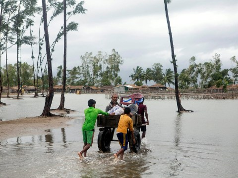 Major search for 81 people missing after cyclone hits Bangladesh