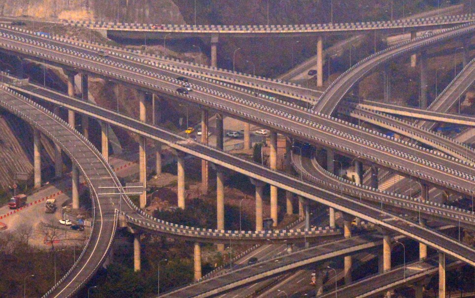 Overpass in China has five layers, 20 ramps and eight