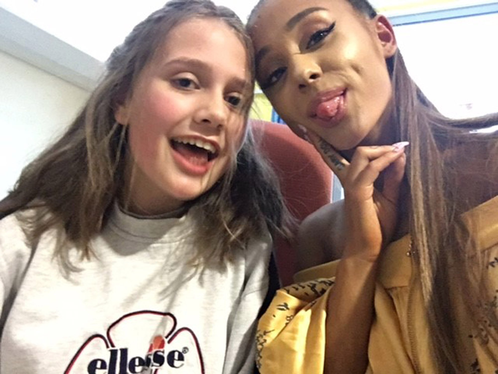 Badly injured fan who Ariana Grande visited in hospital makes a recovery in time to enjoy One Love Manchester
