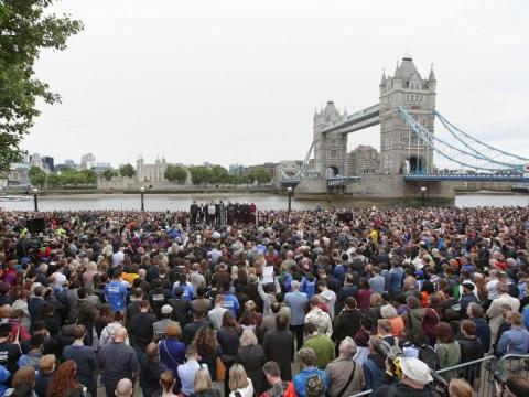 Incredible display of unity close to London Bridge terror attack