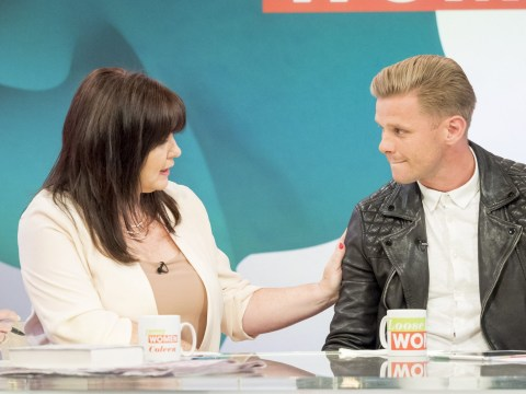 Jeff Brazier chokes up as he talks about allowing himself to grieve for Jade Goody