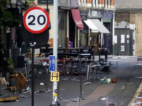 Chilling pictures show London Bridge bars and streets still empty in aftermath of attack