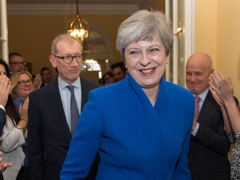 Theresa May schmoozes Tory donors at £5,000-a-table event after series of national crises
