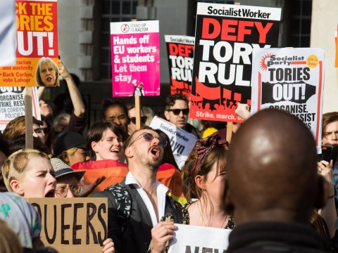 What is the #ToriesOut demonstration on Saturday, and where is it taking place?