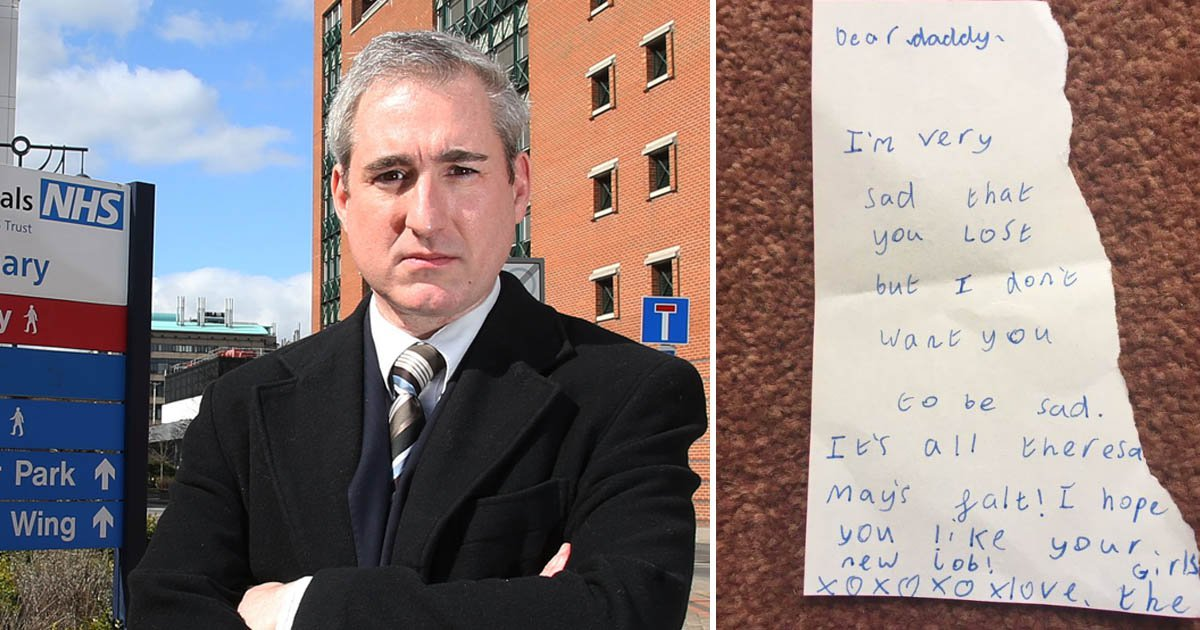 Liberal Democrat MP's touching note from his daughters after losing his seat