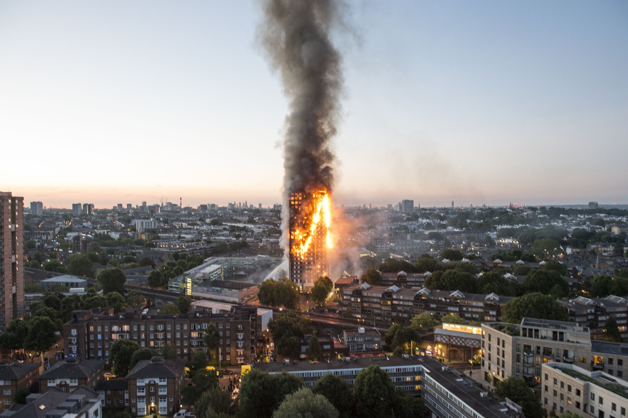 Tragic footage from inside burning Grenfell Tower shows